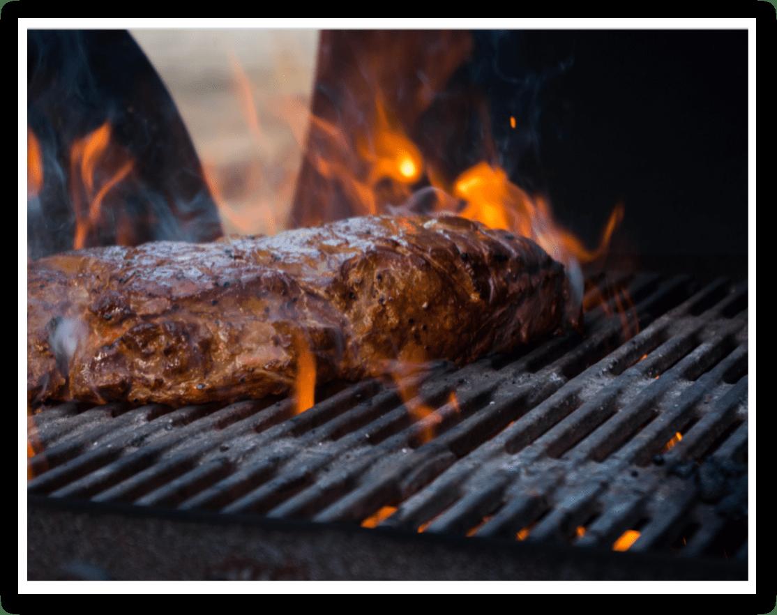 Een stuk vlees van BBQ Americano